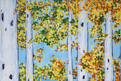 """""""Birch Trees Series VIII"""" Oil Painting on Canvas"""