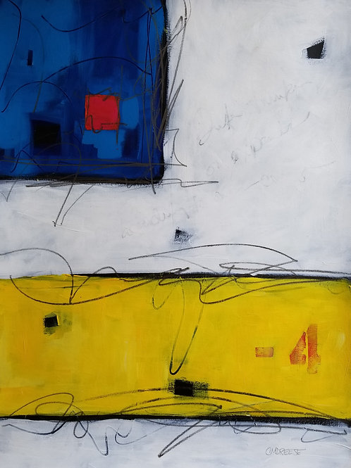 """Roar Like Thunder #451"" Original Mixed Media Painting on Canvas"