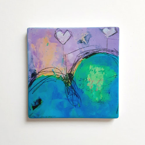 Spreading the Love VII Square Coaster