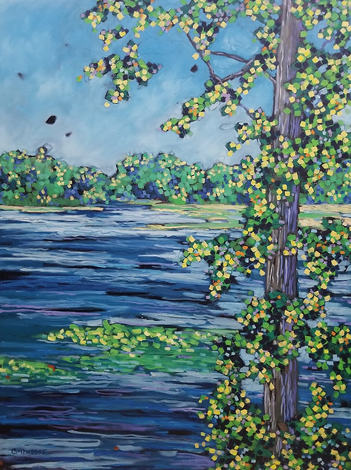 """River Waterway"" Original Oil Painting on Canvas"