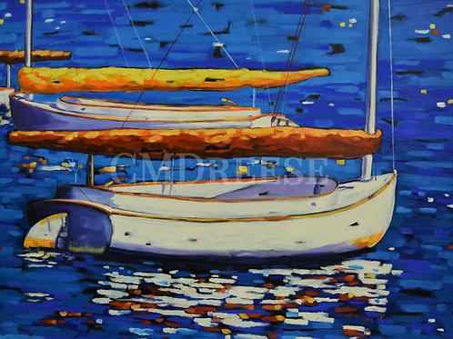 """""""No Knots""""  Sailboats Print"""