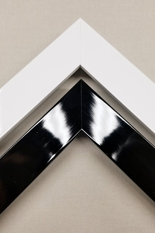 Lacquer Picture Frames in White or Black Finish.