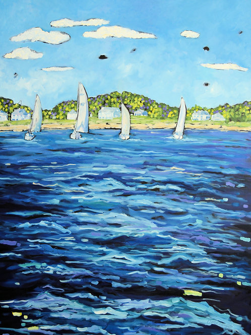 """Sailor's Paradise"" Original Oil Painting on Canvas"