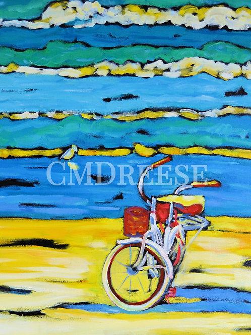 """""""Morning Bike Ride"""" Print"""