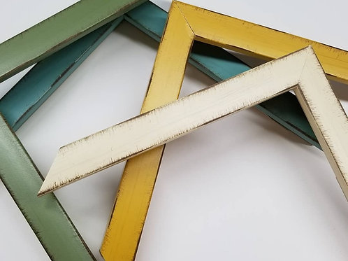 Cottage Style Frames in Blue, Green Yellow, Cream