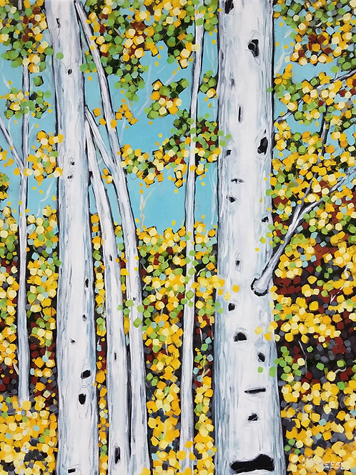 """Birch Trees Series"" Oil Painting on Canvas"