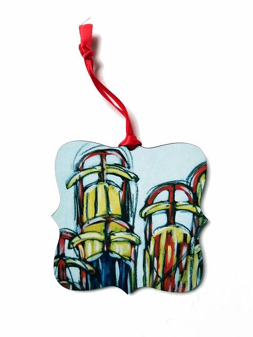 Vintage Sleds Holiday Ornament
