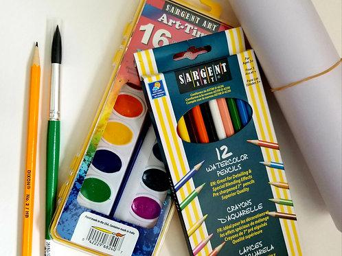 Children's Watercolor Paint Supplies