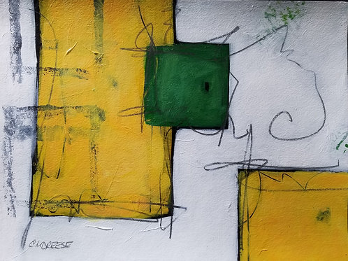 """Frame of Mind Series"" Original Mixed Media Painting on Paper"
