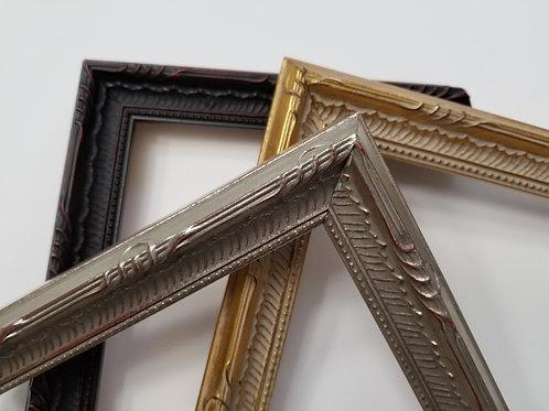 Ornate, Vintage picture frames, black, silver, gold