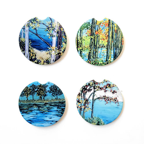 Lake Life Fall Collection Car Coasters