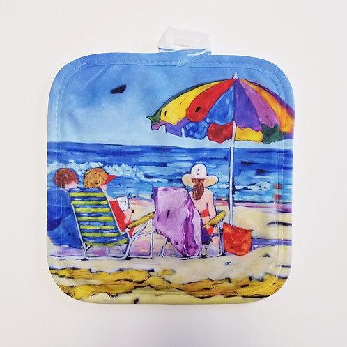 Beachgoers Pot Holder