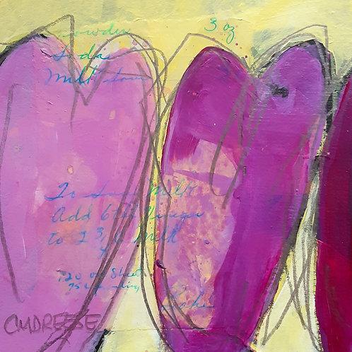 Original Mixed Media Painting - Spreading the Love Heart III Series