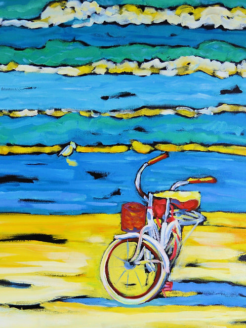 "Print ""Morning Ride"" Bicycle"