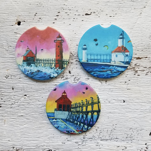 Lighthouse Collection Car Coasters