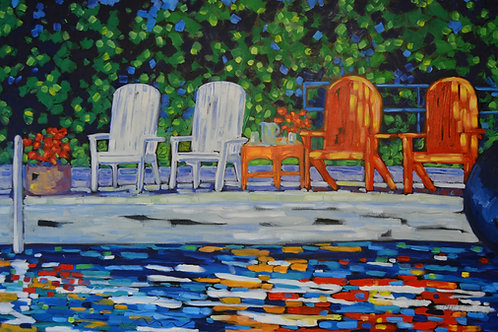 """On Lake Time"" Original Oil Painting on Canvas"