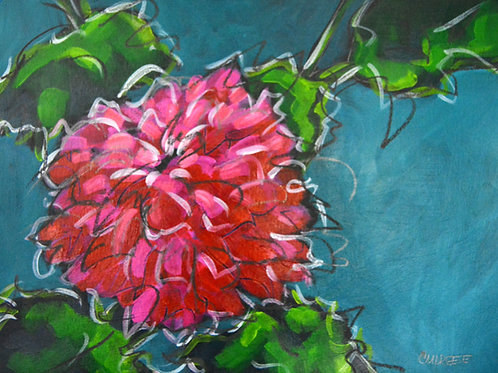 """""""Bloom with Grace"""" Original Mixed Media Painting on Paper, by Christi Dreese"""