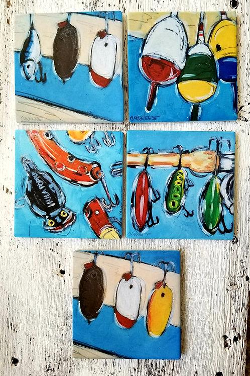 Fishing Lure Coasters
