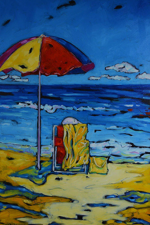 """Umbrella Days"" Original Oil Painting on Canvas"