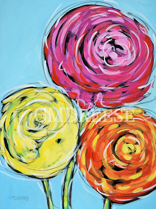 """Live Life in Full Bloom II"" Ranunculus Print"