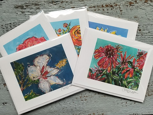 Floral Notecards Signed by Christi Dreese