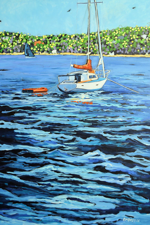 """Anchored"" Original Oil Painting on Canvas"
