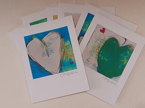 "Notecards ""Spreading the Love"" Heart Series, Signed by Christi Dreese"