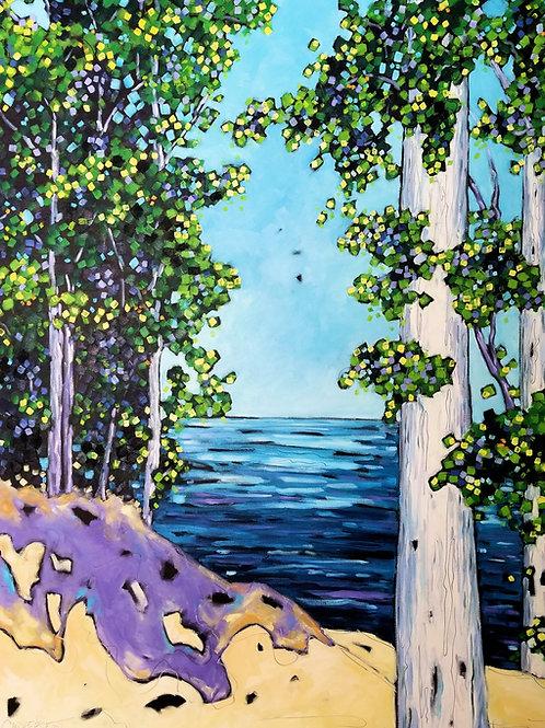 """Lake Michigan Overlook III"" Oil Painting on Canvas"