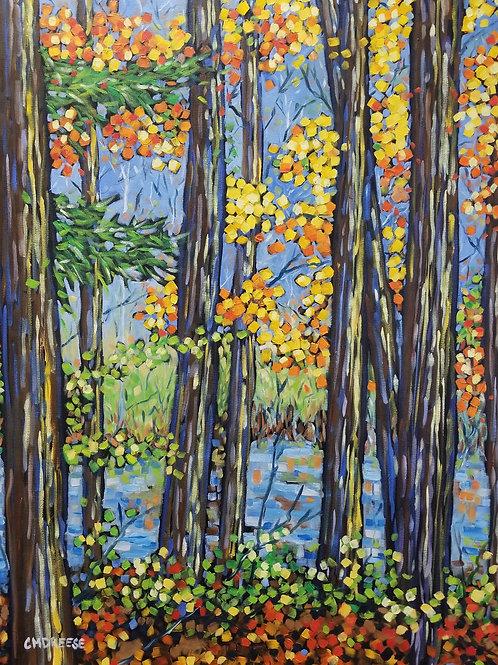 """""""Hemlock Crossings Path"""" Oil Painting on Canvas"""