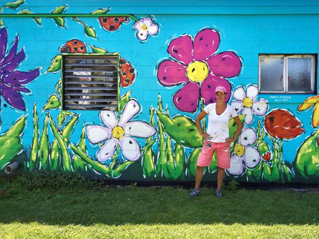 """""""Grandmother's Garden"""" Mural is finished!"""