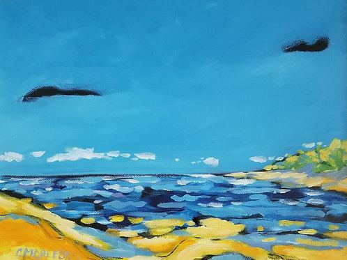 """""""Shoreline"""" Original Oil Painting"""