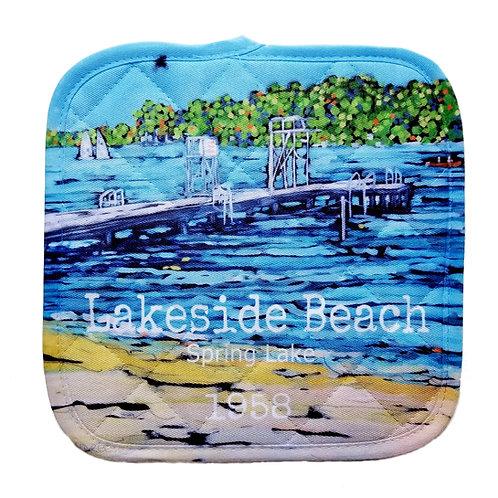Lakeside Beach Pot Holder