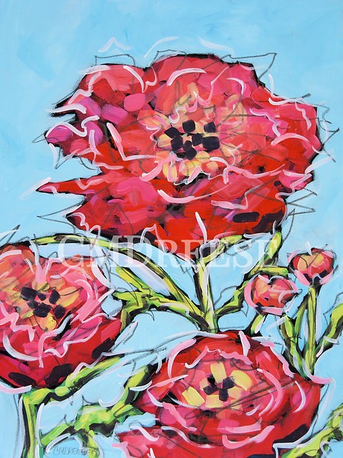 """""""Be a Flower, Not a Weed"""" Peony Print"""