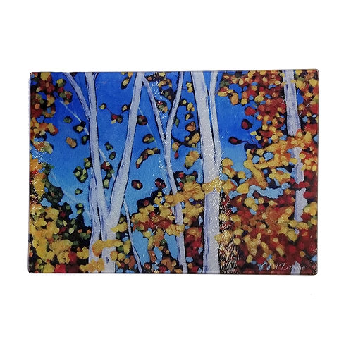 Autumn Glass Art/ Cutting Board