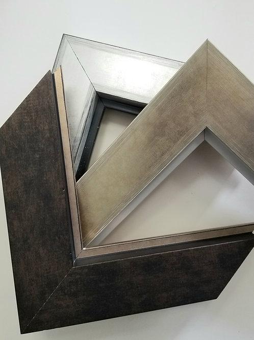 Contemporary Larson Juhl picture frames In Silver, Champagne and Dark Br