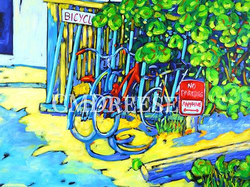 """No Parking"" Bicycle Print"
