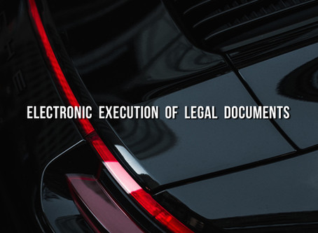 Electronic Execution of Legal Documents