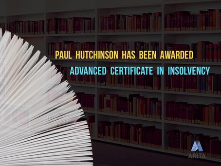 GTL Director Awarded Advanced Certificate in Insolvency