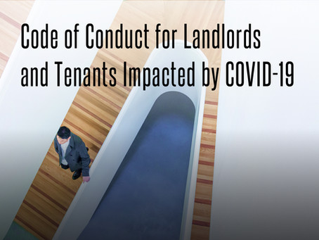 Code of Conduct for Landlords and Tenants Impacted by COVID-19
