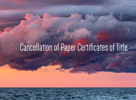 Cancellation of Paper Certificates of Title in NSW