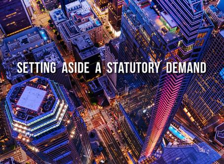 How to Set Aside a Statutory Demand