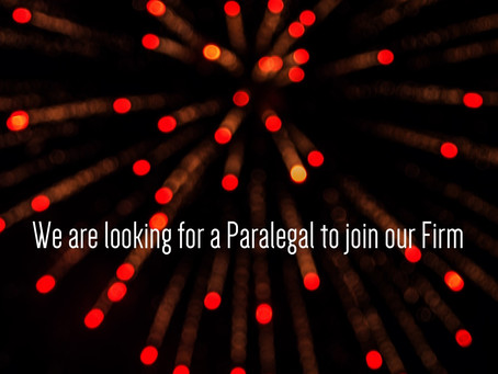 Seeking a Paralegal to Join the Team