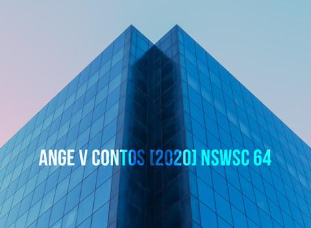 Ange v Contos [2020] NSWSC 64