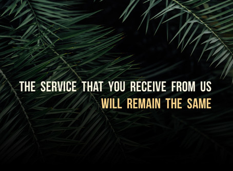 The Service That You Receive Will Remain The Same