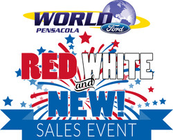 Red White and New! Sales Logo