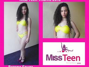 Miss Teen PE terá a bela Rejane Souza como representante Triunfense