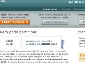 Inscrições do SISU para o segundo semestre terminam amanhã 02/06.