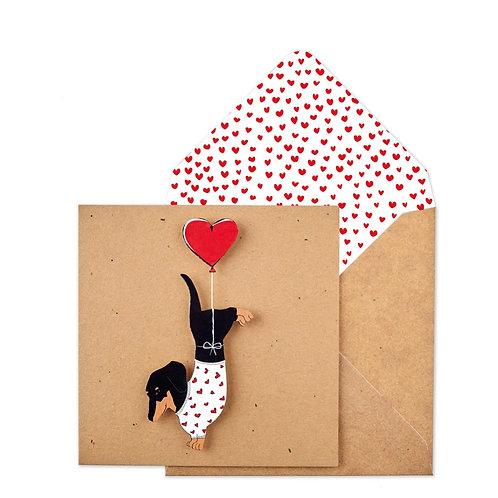 Love Heart - Daschund