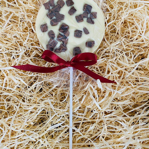 White Chocolate Lolly with Fudge