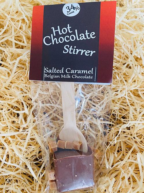 Milk Chocolate Stirrer & Salted Caramel